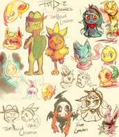 PMD-E Doodles by MusicalCombusken