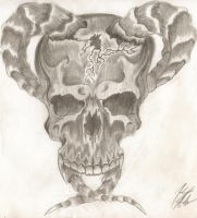 pencil skull by RageFish21