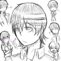 Death the Kid: sketch dump by sukuyo-reiko