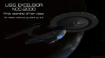 USS Excelsior - First Starship of Her Class by VSFX