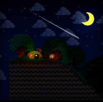 Night in Mushroom Hill by CoolAsEiz