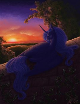 Waiting for the night by LuvVandra