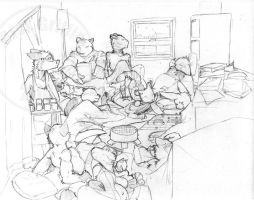 INA Crowded Room WIP by RickGriffin