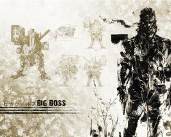 Big Boss - MGS wallpaper by Harmpie