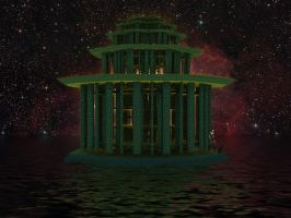 Lysergica Floating Temple by PhotoComix2