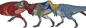 Claiming the Throne Tyrannosaur Size by Tom Parker by Ikechi1