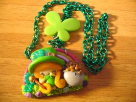 "Necklace ""Irish leprechaun"" by Bojo-Bijoux"