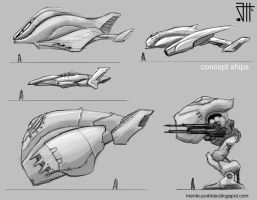 Concept ships by juannahuel