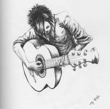 guitar player by laceyallyn