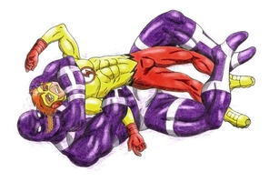 Kid Flash vs Parasite - Color - Commission by 09tuf