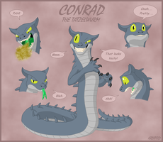 Conrad the Tatzelwurm by Kryptid