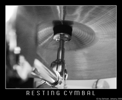 Resting Cymbal - Black+White by Darkaan