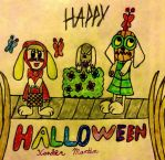 Super Adorable Mimiga Halloween Rainbow Fun Time by xandermartin98