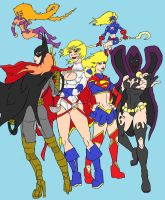 The Teen DC Girls Colored by Axel-Knight