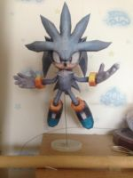 Papercraft-Silver the Hedgehog by DinoeArchelon