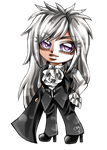 COMM: Chibi Silver Flame by DarkSena