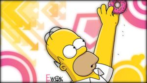 Homer wallpaper for PSP by Xx-EwOk-xX