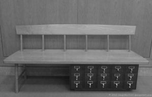 Card Catalog Bench by SnapShot120