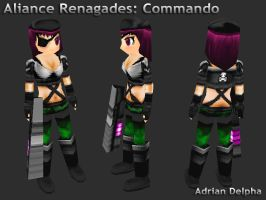 Alliance Renegades: Commando by DelphaDesign