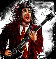Angus Young - Moused MS Paint by muhcashin