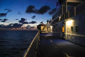 Nightime on board by BusterBrownBB