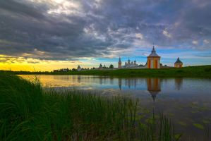 Monastery on the river by olgaFI