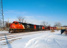CN train 149 rollin in the snow by wolvesone