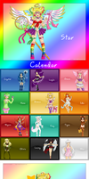 Colors- OC CALENDAR by izka197