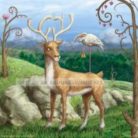 Deer, Stork and Bell by Devilry