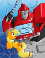 MLP/TF: Ironhide and Applejack by KarToon12