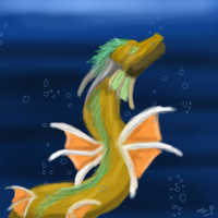 Dragon of the ocean by dragonrace