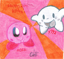 Happy 20th Kirby by Camichuriin