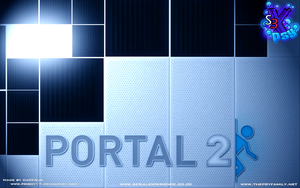 Portal 2 Psy and SE background by priboy17