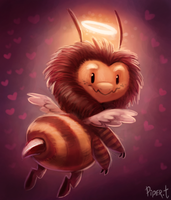 DAY 86. Cupid Bee (25 Minutes) by Cryptid-Creations