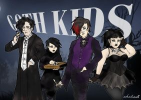 the goth kids by arkahno