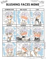 Blushu face meme with killukyun by Kie-Ku