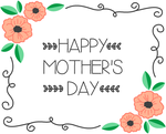 Floral Border Mother's Day Card by allonsykimberly