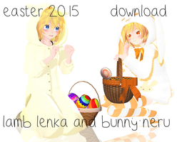 [easter gift] Bunny Neru and Lamb Lenka ~DOWNLOAD by MajesticFork