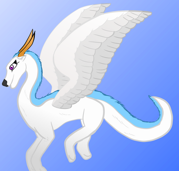 Evangeline The Feather Whip Dragon by TheJoeJoe777