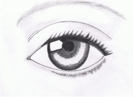 Practice drawing lesson of human eye by hypermagneto999