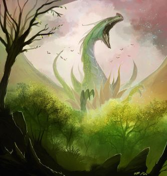 Spring Dragon by TSRodriguez