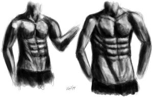 Male Torso (the hands are fail) rough sketch by rashuvast