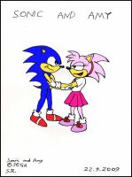 Sonic and Amy by Sricketts14381