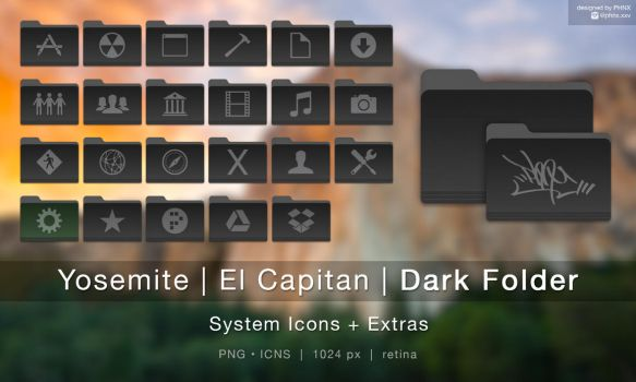 Dark Folder for Mac by PHNX-XXV