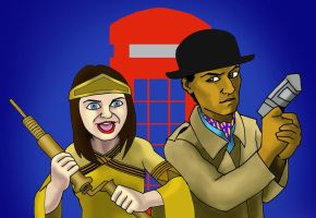 Inspector Spacetime and Temporary Constable Geneva by jcool4u