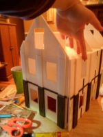 Second Foam Core Dollhouse WIP 5 Outside Ebony by kayanah