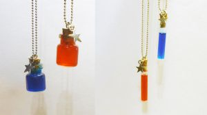 Potion friendship necklaces by FrozenNote
