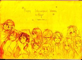 Happy International Women's Day {Hetalia Girls} by Anne789y