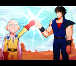 One Punch Man VS. One Touch Man by The-Star-Hunter