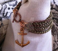Atomic Artifacts - Anchor bracelet by Anna-Atomic